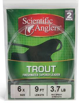 Scientific Anglers Trout kartioitu peruke 9ft/270cm 2kpl/pkt - Kartioperukkeet - 840309101110 - 1