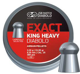 JSB Exact King Heavy 6,35mm 2,20g - 6,35 mm luodit - 8594180450783 - 1