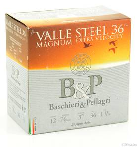 B&P ValleSteelMagnum 12/76 36g 3,3 mm - Kaliiperi 12 lyijytön - 8034134046193 - 1