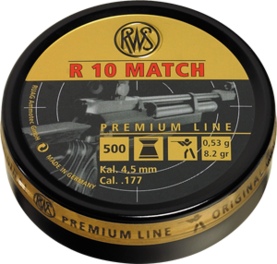RWS R10 Match 4,5mm 0,53g - 4,5 mm luodit - 4000294135903 - 1