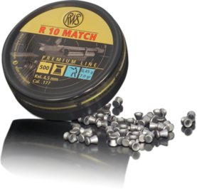 RWS R10 Match LP 4,5mm 0,45g - 4,5 mm luodit - 4000294154423 - 1