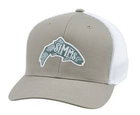Flexfit Trucker Woodblock Trout Coffee - Lippikset ja pipot - 694264294666 - 1
