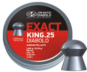 JSB Exact King 6,35mm 1,645g 150 kpl - 6,35 mm luodit - 8594180450646 - 1