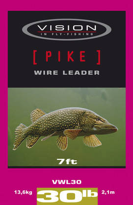 Vision Pike Wire 7ft 30lb/13,6kg haukiperuke - Kartioperukkeet - 6417512809917 - 1