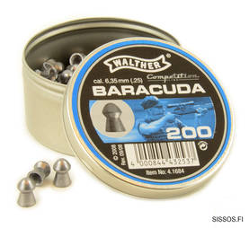 Walther Barracuda 6,35mm - 6,35 mm luodit - 4000844432537 - 1