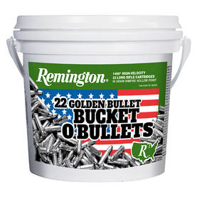 Remington .22LR Golden Bullet Bucket - Yliääniset 22 LR patruunat - 047700415208 - 1