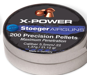 Stoeger X-Power 5,5mm 1,37g - 5,5 mm luodit - 037084303789 - 1
